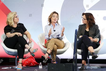 Stock Picture of Lea Goldman (Editor-In-Chief, A and E Networks), Tiffanie Darke (Editor-In-Chief, A and E Networks), Nomi Ernst Leidner (SVP, Development, VICELAND)