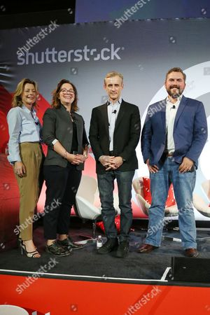 Stock Image of Cody Keenan (President Obama Speechwriter), Dan Abrams (Host, Live PD), Nomi Ernst Leidner (SVP, Development, VICELAND), Tiffanie Darke (Editor-In-Chief, A and E Networks)