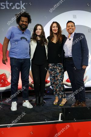 Jordan Hewson (Founder and CEO, Speakable), Chrysi Philalithes (Chief Digital Officer, (RED)), B Bonin Bough (Marketing Mogul and Host, Cleveland Hustles), Lydia Polgreen (Editor-in-Chief, HuffPost)