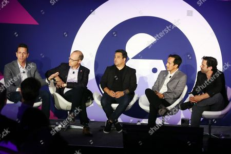 Christian Brucculeri (CEO, Snaps), Fred Gerantabee (Global VP, Digital Innovation, COTY), Josh Golden (Publisher, Ad Age), Stefanos Loukakos (Director, Head of Messenger Business, Facebook), Tim Carr (Head of Social Marketing, Live Nation)