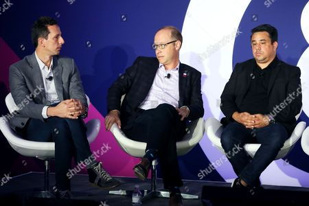 Josh Golden (Publisher, Ad Age), Fred Gerantabee (Global VP, Digital Innovation, COTY), Stefanos Loukakos (Director, Head of Messenger Business, Facebook)