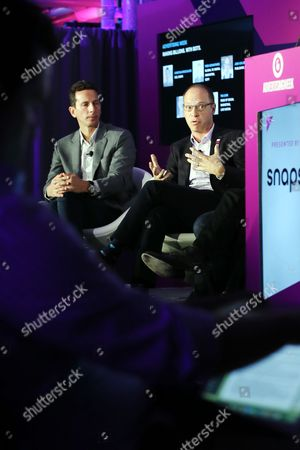 Josh Golden (Publisher, Ad Age), Stefanos Loukakos (Director, Head of Messenger Business, Facebook)
