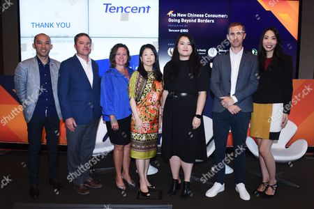 Benny Ho (Senior Director, Tencent International Business Group), Sage Brennan (Co-Founder, Principal, China Luxury Advisors), Kristen Esposito (VP, Tourism and Marketing Alliances, Simon Property Group), Makiko Matsuda Healy (SVP, Global Tourism Development, NYC and Company), Ye Jin (Global Director of Customer Experience and Strategy, Rebecca Minkoff), Jonathan Smith (Managing Director, Hot Pot Digital), Kimberly Lee (Senior Marketing Manager, Tencent International Business Group)