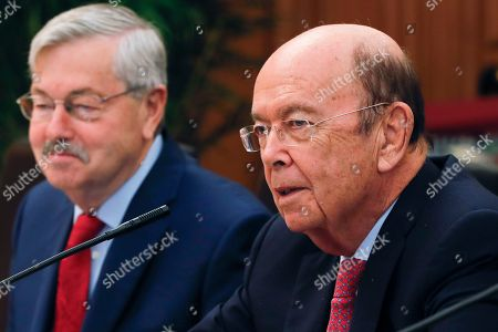 Wilbur Ross, Terry Branstad. U.S. Commerce Secretary Wilbur Ross, right, speaks next to U.S. Ambassador to China Terry Branstad during a bilateral meeting with Chinese Vice Premier Wang Yang at the Zhongnanhai Leadership Compound in Beijing