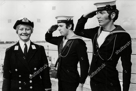 Able Seaman David Ferguson (20) (r) Constructor Midshipman Claire Brereton (18) (l) And Able Seaman Eric Catch (19) (centre) Onboard Hms Apollo. Claire Is The First Ever Woman Midshipman In The Royal Navy. Box 727 62501175 A.jpg.