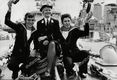 (l-r) Able Seaman David Ferguson (20) Constructor Midshipman Claire Brereton (18) And Able Seaman Eric Catch Onboard Hms Apollo. Claire Is The First Ever Woman Midshipman In The Royal Navy. Box 727 62501174 A.jpg.