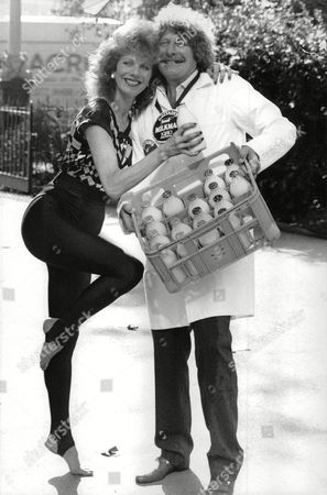 Milkman Of The Year Terry Brooks From Hastings Receiving His Award From Lizzie Webb (known As 'mad Lizzie') Who Presents Daily Exercise Routines On Morning Television) Box 730 116021722 A.jpg.