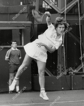 Tennis Player Amanda Brown In Action At Wimbledon Tennis Championships. Box 731 620021745 A.jpg.