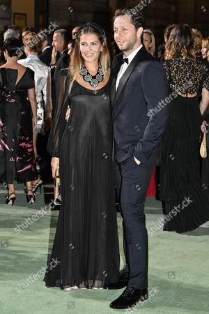 Milan Fashion Week Spring Summer 2018. Milano Fashion Women, Spring Summer 2018. Fashion Awards 2017 arrives Pictured: Margherita Missoni and Derek Blasberg
