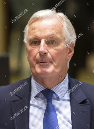 Michel Barnier, the European Chief Negotiator of the Task Force for the Preparation and Conduct of the Negotiations with the United Kingdom under Article 50 chats with Danish Foreign Minister Anders Samuelson during a EU general affairs council, in Brussels, Belgium, 25 September 2017. The 4th round of Brexit negotiations will start later in the day.