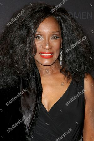 """Stock Image of Trina Parks arrives at """"Spectre"""" - The Black Women Of Bond Tribute at the California African American Museum, in Los Angeles"""