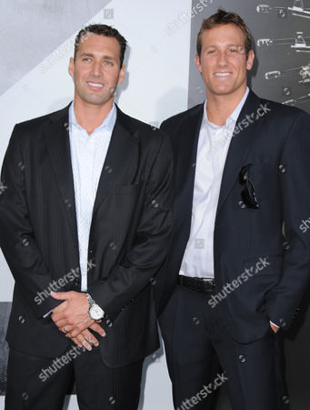 """Merrill Moses and Peter Varellas attend the premiere for """"The Expendables 2"""" at Grauman's Chinese Theatre on in Los Angeles"""