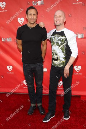Stock Photo of Wesley Geer and Sonny Mayo attend the 10th annual MusiCares MAP Fund Benefit Concert at Club Nokia on in Los Angeles