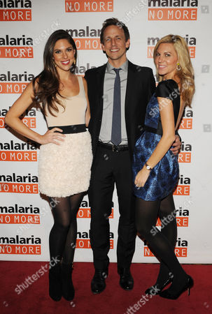 Stock Picture of From left, Abby Huntsman, Seth Meyers and Mary Anne Huntsman attend the 2012 Malaria No More International Honors on in New York