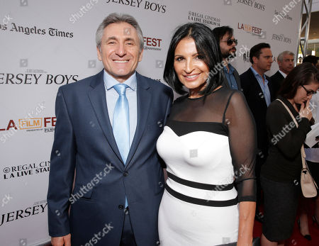 Lou Volpe and Kathrine Narducci attend the Warner Bros. Premiere of 'Jersey Boys' at the 2014 Los Angeles Film Festival held at Regal Cinemas LA Live Stadium 14, in Los Angeles