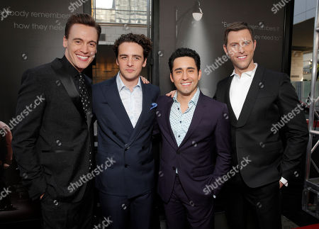 Erich Bergen, Vincent Piazza, John Lloyd Young and Michael Lomenda attend the Warner Bros. Premiere of 'Jersey Boys' at the 2014 Los Angeles Film Festival held at Regal Cinemas LA Live Stadium 14, in Los Angeles