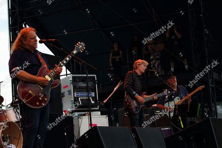 Warren Haynes, Phil Lesh, John Scofield (L-R) and Phil Lesh & Friends performs at the 2014 Lockn' Festival, in Arrington, Virginia