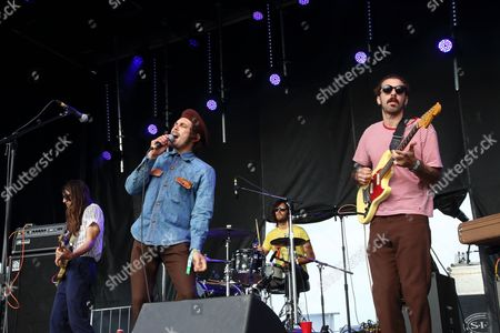 Anthony Braun Perry, Scott Montoya, Brooks Nielsen and Kyle Straka (L-R) and The Growlers performs at The Sasquatch! Music Festival at the Gorge Amphitheatre, in George, Washington