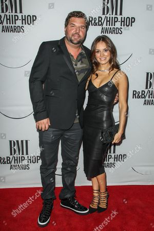 Dallas Davidson, left, and Natalia Starzynski attend the 2015 BMI R&B/Hip-Hop Awards at the Saban Theatre on in Beverly Hills, Calif