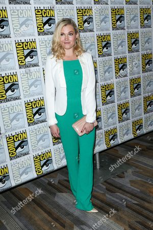 """Eliza Taylor attends the """"The 100"""" press line on day 2 of Comic-Con International, in San Diego"""