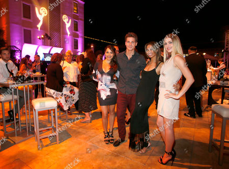 Elena Tovar, from left, Robert Palmer Watkins, Brytni Sarpy and Hayley Erin seen at the Television Academy's 67th Emmy Daytime Peer Group Celebration at the Montage Beverly Hills on in Beverly Hills, Calif