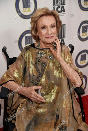 Actress Cloris Leachman poses at the 2015 Last Chance for Animals Annual Benefit at the Beverly Hilton, in Beverly Hills, Calif