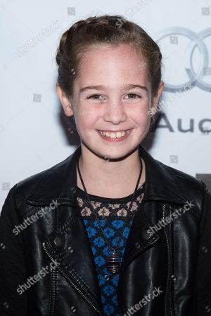 "Makenzie Moss attends the New York Film Festival gala presentation of ""Steve Jobs"" at Alice Tully Hall, in New York"