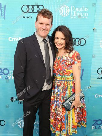 Gil Cates Jr., left, and Kristin Davis attend Backstage at the Geffen, in Los Angeles