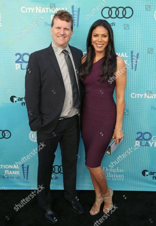 Gil Cates Jr., left, and Merle Dandridge attend Backstage at the Geffen, in Los Angeles