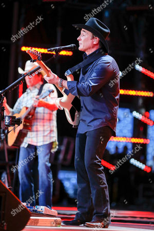 Clint Black performs at the CMA Music Festival at Nissan Stadium, in Nashville, Tenn