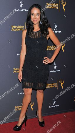 Stock Photo of Daya Vaidya arrives at the Dynamic & Diverse Nominee Reception presented by the Television Academy and SAG-AFTRA at the Academy's Saban Media Center, in the NoHo Arts District in Los Angeles