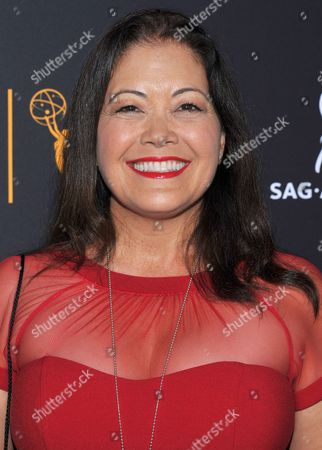 Stock Photo of Ren Hanami, SAG-AFTRA Chair, Asian Pacific Media Committee, arrives at the Dynamic & Diverse Nominee Reception presented by the Television Academy and SAG-AFTRA at the Academy's Saban Media Center, in the NoHo Arts District in Los Angeles