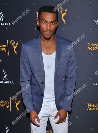 Stock Photo of Shamar Sanders arrives at the Dynamic & Diverse Nominee Reception presented by the Television Academy and SAG-AFTRA at the Academy's Saban Media Center, in the NoHo Arts District in Los Angeles