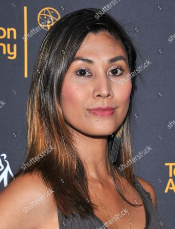 Rain Valdez arrives at the Dynamic & Diverse Nominee Reception presented by the Television Academy and SAG-AFTRA at the Academy's Saban Media Center, in the NoHo Arts District in Los Angeles