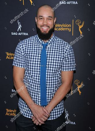Peter Saji arrives at the Dynamic & Diverse Nominee Reception presented by the Television Academy and SAG-AFTRA at the Academy's Saban Media Center, in the NoHo Arts District in Los Angeles