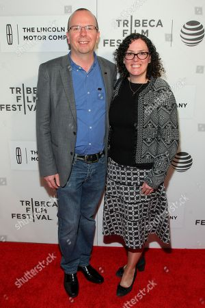 """Col Needham, left, and Karen Needham, right, attend the world premiere screening of """"All We Had"""", during the 2016 Tribeca Film Festival, at John Zuccotti Theater at BMCC Tribeca Performing Arts Center, in New York"""