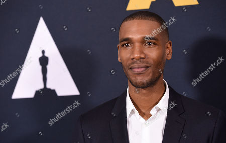 Presenter Parker Sawyers poses at the 43rd Annual Student Academy Awards at the Academy of Motion Picture Arts and Sciences, in Beverly Hills, Calif