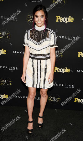 """Megan Nicole poses at People magazine's """"Ones to Watch"""" event, in West Hollywood, Calif"""