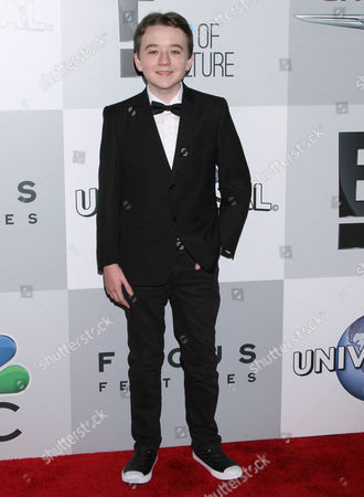 Benjamin Stockham arrives at the NBCUniversal Golden Globes afterparty at the Beverly Hilton Hotel, in Beverly Hills, Calif