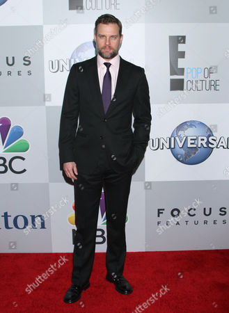 Travis Schuldt arrives at the NBCUniversal Golden Globes afterparty at the Beverly Hilton Hotel, in Beverly Hills, Calif
