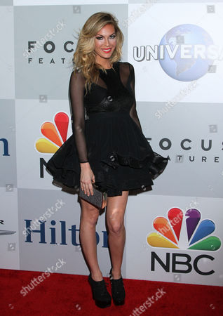 Jasmine Dustin arrives at the NBCUniversal Golden Globes afterparty at the Beverly Hilton Hotel, in Beverly Hills, Calif