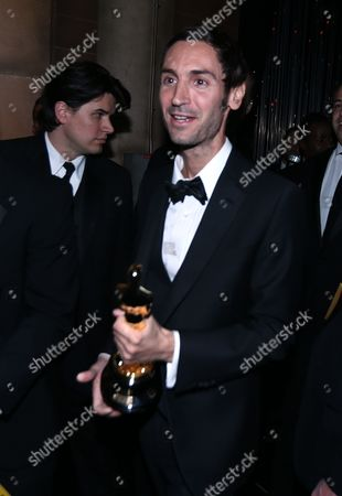 Director Malik Bendjelloul seen backstage at the Oscars at the Dolby Theatre, in Los Angeles