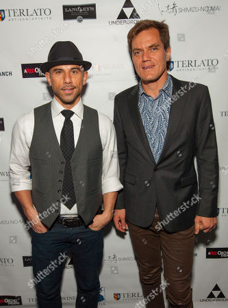 Rockit Ranch Productions CEO Billy Dec with actor and ensemble member Michael Shannon during the A Red Orchid Theatre Annual Gala at the Underground, on in Chicago