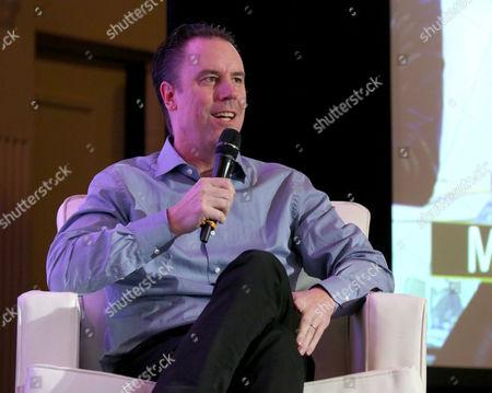 Mark Gill, President, Millennium Films, is seen at the 2014 American Film Market (AFM) at the Loews Santa Monica Hotel on in Santa Monica, Calif