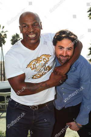 Mike Tyson and Bert Marcus are seen at the 2014 American Film Market (AFM) at the Loews Santa Monica Hotel on in Santa Monica, Calif