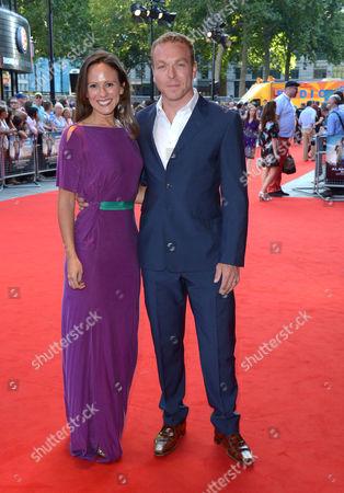 Sarra Kemp and Chris Hoy arrive at London Premiere of Alan Partridge: Alpha Papa,, in London