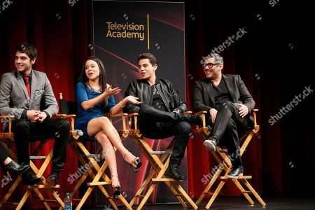 "From left to right, actor David Lambert, actress Cierra Ramirez, actor Jake T. Austin and actor Danny Nucci participate in a panel at ""An Evening with the Fosters"" presented by the Television Academy at the El Portal Theatre on in the NoHo Arts District in Los Angeles"
