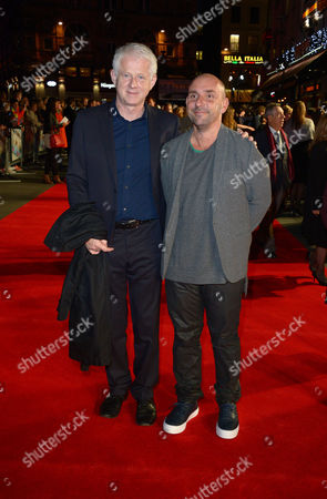 """Richard Curtis, Dan Mazer arrive on the red carpet for the European Premiere of """"One Chance"""" at the Odeon West End,, in London"""
