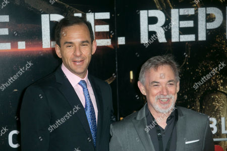 Tom Lassally and Erwin Stoff arrive at the BFI Imax for the World Premiere, in central London, the first of three premieres covered in one day, with Paris and New York the other destinations