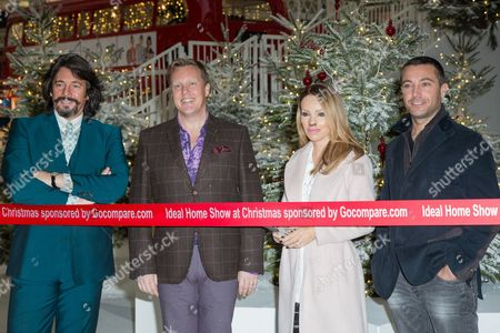 From left, Laurence Llewelyn-Bowen, Olly Smith, Katie Piper and Gino D'Acampo pose for photographers during a photo call in London
